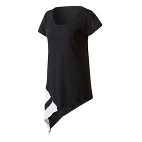 Remera adidas Originals Eqt Block Negra Grid Mujer