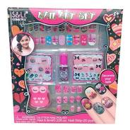 Juguete De Maquillaje Para Nenas Set De Uñas Limas Infantil