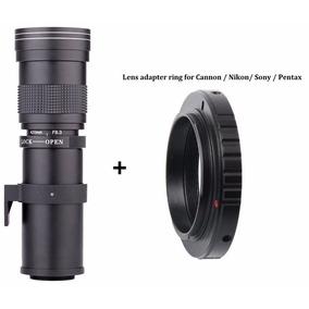 Lente Teleobjetivo Manual 420mm-800mm Para Nikon Dslr