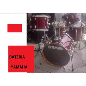 Bateria De 5 Puestos Yamaha Red Original