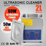 Tina Ultrasonido 2 L Limpieza De Inyectores Acero Inoxidable
