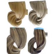 Cabelo Humano Loiro Claro Fita Adesiva 120g 70cm Mega Hair
