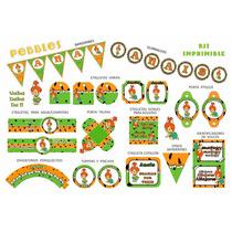 Kit Imprimible Pebbles Candibar Baby Show Datos Editables