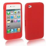 Leilão Capa Case P\ Iphone 4 Silicone Vermelha A1845