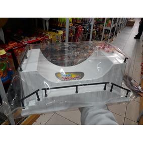 Pista C/ Barra Grande Para Mini Skate 30x20 Cm Brinquedo