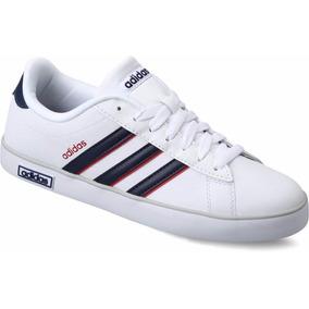 Tenis adidas Derby Vulc Blanco Azul Marino Piel Envío Gratis