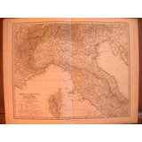 Mapa Antiguo De Italia 1880
