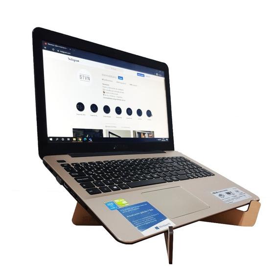 Atril Soporte Notebook Compu Madera Base Computadora Regalos