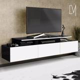Mesa De Tv Lcd Flotante Diseño Moderno Con Cajones Oferta!!!