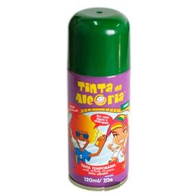 Spray Para Cabelo Tinta Da Alegria Verde 120ml