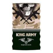Bandana Ou Buff King Brasil Com Proteção Uv - Army 301