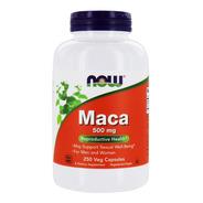 Maca Peruana 250cps Vegano 500mg Now Foods - Importada