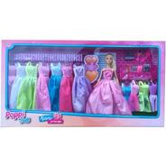 Muñeca Kiara Princesa Vestidos Accesorios Zapatos Poppi Doll