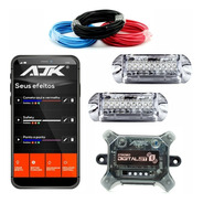 Kit Strobo Ajk Central Bluetooth 2 Faróis Bt + Cabos