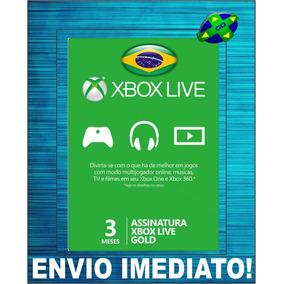 Xbox Live Gold Brasil - Cartão 3 Meses De Assinatura Gold