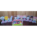 Kit 10 Circo Rosa Menina De Mesa,display,festa Infantil,mdf