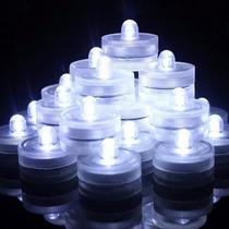 Caja Con 36 Velas De Leds Simergibles Al Agua