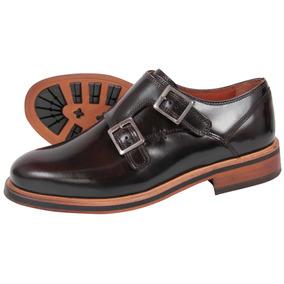 Zapatos Monkstrap En Cuero Para Hombre