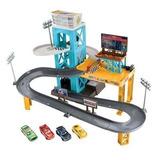 Disney Juego Cars 3 Set Con Garage Motorizado