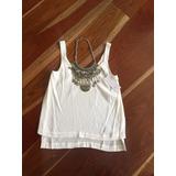 Promoción Blusa Blanca O Azul Rey Studio F