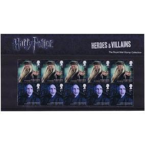 10 Selos Harry Potter Oficial Correio Britânico Com Poster