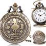 Relógio De Bolso Coelho Gato Alice No País Das Maravilhas