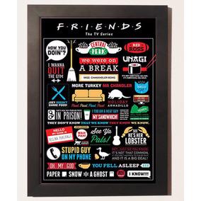 Quadro Poster Friends Sitcom Serie Tv Decorativo C Moldura