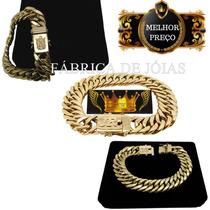 Pulseira Grumet Duplo Unissex 40g Ouro 18kl 750