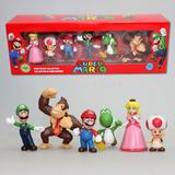 Set Mini Figuras Mario Bros 6cm /sapra