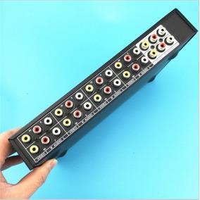 Seletor Switcher Vídeo Áudio Estéreo Rca 8 Entradas 2 Saídas