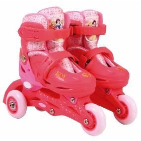 Patines Rollers Extensibles Princesas Disney Con Proteccion