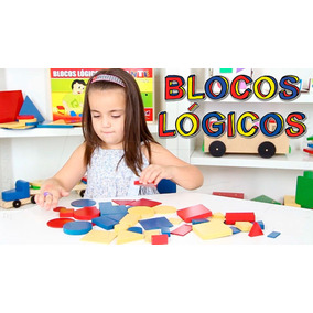 Brinq Pedagógico Madeira Blocos Lógicos Formas Geométricas