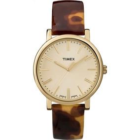 59d4ebf1df43 Reloj Timex Para Mujer T2p237 Tablero Color Champaña Y
