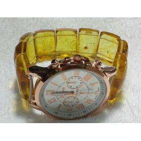 Reloj Con Extensible De Ámbar 100% Auténtico, Envío Gratis