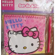 Fiesta De Hello Kitty, Libretita Con Pluma Y Stickers