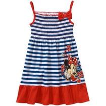 Vestido Minnie Mouse Talle 4 Disney Importado Verano