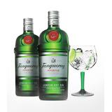 Kit Gin Tanqueray 2x 750ml + Taça Vidro Tanqueray Oficial