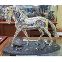 Escultura Caballo Lusitano Plata 999 Electroformado Figura