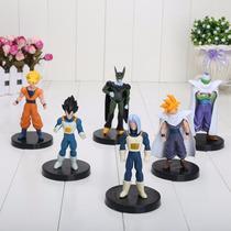 6 Figuras De Colección Dragon Ball 12 Cm Con Base Goku Y Mas