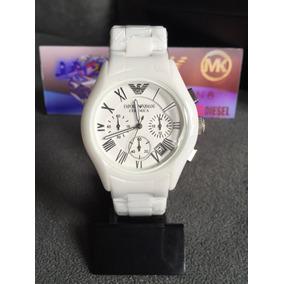 8f4fbbf4608 Relogio Armani Ceramic Chronograph Ar1403 Masculino - Relógios De ...