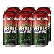 Patagonia Amber Lager . Cerveza . 473ml X 6 - Tomate Algo® -