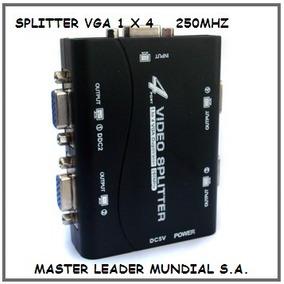 Splitter Distribuidor Vga 1x4 Amplificador Incluye Fuente