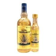 Tequila Destilador 1 Lt + Pacha 250 Ml