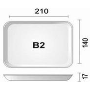 Bandeja B2 Rasa Leve 210x140x17mm C/ 100 Unidades - Amarela