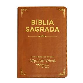 Bíblia Sagrada Com Anotações De Fé Do Bispo Macedo.