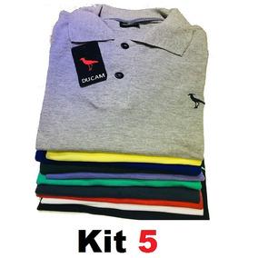 Kit 5 Camisa Polo Masculina Camiseta Polo*** Revenda Atacado
