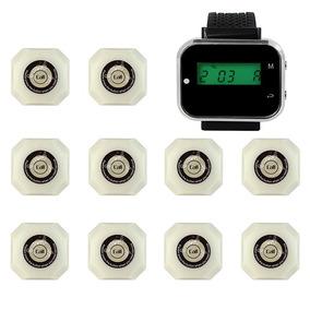 Kit 1 Relógio Chama Garçon + 10 Campainhas