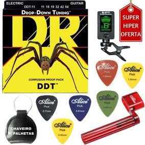 Cordas Dr D. Down Tuning Guitarra 011 Ddt11 + Acessórios A01