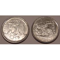 Moeda 50 Cruzeiros Reais 1994, Onça Pintad, Fauna Brasileira
