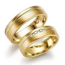 Lindo Par De Alianças 6mm Prata Ouro, Compromisso Casamento!